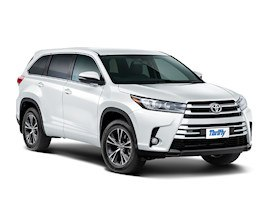 Thrifty Toyota Highlander AWD Rental in New Zealand